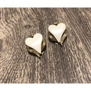 Vintage Clip-on Heart Earrings
